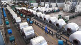 中國山東濱州一家鋁製品工廠