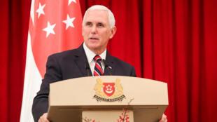 美國副總統彭斯(Mike Pence)2018年11月16日新加坡