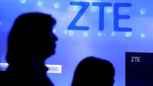 Logo của ZTE tại Triển lãm Di động Toàn cầu Barcelona ngày 25/02/2019.