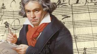 德國作曲家貝多芬。