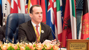 U.S. envoy to the coalition against Islamic State Brett McGurk attends the Kuwait International Conference for Reconstruction of Iraq, in Bayan