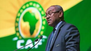 Ahmad Ahmad, président de la Confédération africaine de football.