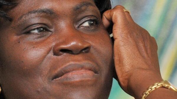 L'ex-Première dame de Côte d'Ivoire, Simone Gbagbo, en 2009.
