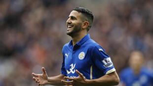 La joie de Riyad Mahrez après un but contre Southampton dans le championnat anglais.