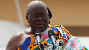 Ghana's President Nana Akufo-Addo during his swearing-in ceremony, Accra, January 7 2017.