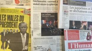 Capas dos diários de 23 de Novembro de 2016.