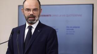 Le Premier ministre Edouard Philippe le 28 mars 2020 à Paris.