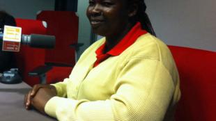 Ugandan midwife Esther Madudu in the RFI studio