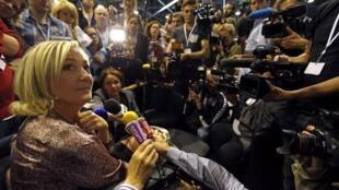 Marine Le Pen in Marseille last month