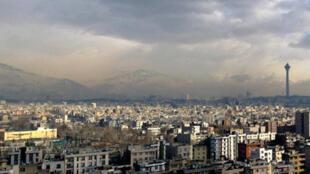 Vue panoramique de Téhéran, capitale de l'Iran.
