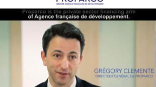 Filiale de l'Agence Française de Développement (AFD) dédiée au secteur privé, Proparco est l'investisseur public français à l'étranger. Grégory Clemente est le Directeur général de Proparco. (Capture d'écran).