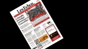 Edição especial do diário econômico Les Echos, preparada por 17 personalidades do mundo político e empresarial francês, que se colocaram na pele de jornalistas.