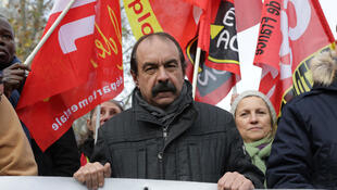 Philippe Martinez, the mustachioed head of the CGT trade union, pictured at a protest against pension reform in Paris earlier this month.