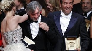Cannes jury president Robert de Niro with The Artist's star Jean Dujardin at this year's festival