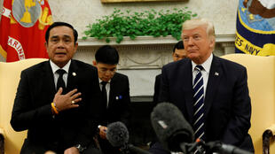 美國總統特朗普與泰國總理巴育會面資料圖片