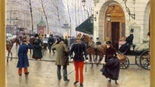 Бульвар Капуцинок в Париже. Жан Беро. 1889 г. Х/м. Коллекция музея Карнавале.