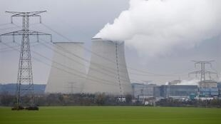 Steam rises from the cooling towers of the Electricite de France (EDF) nuclear power station at Nogent-Sur-Seine, France.