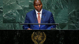 Le président centrafricain, Faustin-Archange Touadéra, à la tribune des Nations unies, le 26 septembre 2018.