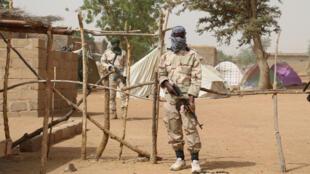 Un camp de jihadistes repentis à Mopti, dans le centre du Mali.