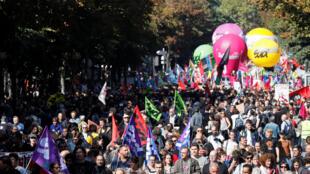 Manifestação em Paris foi mais fraca do que no primeiro dia de protestos contra as reformas, em 12 de setembro.