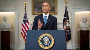 US President Barack Obama announces the shift in policy towards Cuba