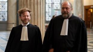 Новые французские адвокаты Джулиана Ассанжа Антуан Вей (слева) и Эрик Дюпон-Моретти