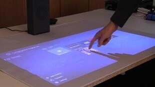 The Adok smart projector turns any surface into tactile surface.