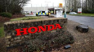 Entrada de la fábrica de Honda de Swindon.