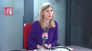 Virginie Duby-Muller sur RFI le 19 février 2020.