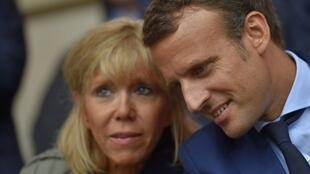 Brigitte and  Emmanuel Macron photographed recently