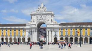 Une vue de Lisbonne, capitale du Portugal.