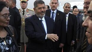 Egypt's President Mohamed Morsi arrives in Addis Ababa for the African Union summit, 24 May, 2013