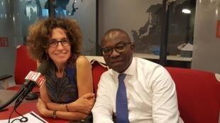 Emmanuelle Bastide et Didier Acouetey en mai 2019.