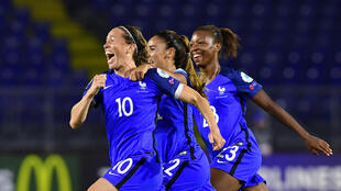 France's midfielder Abily Camille after scoring during the Uefa Women's Euro 2017 between Switzerland and France at Rat Verlegh Stadium in Breda