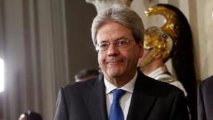 Paolo Gentiloni, le 11 décembre 2016 au siège de la présidence de la République italienne à Rome.