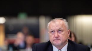 Глава РУСАДА Юрий Ганус на конференции в Катовице, 6 ноября 2019