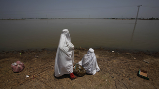 Flood victims in Sindh