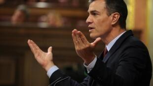 O socialista Pedro Sánchez, que passa por nova votação na quinta-feira (25).