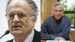 Os americanos Thomas J. Sargent (esq.) e Christopher Sims dividem o Nobel de Economia de 2011.