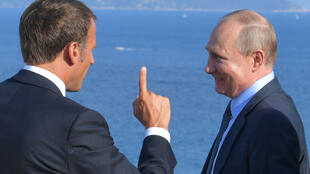 Эмманюэль Макрон и Владимир Путин в Форте Брегансон 19 августа 2019