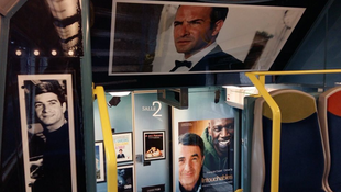 Each of the five RER D carriages shows a different period from the film archives.