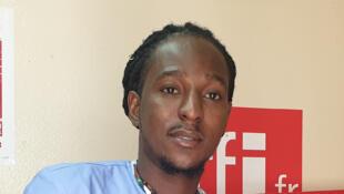 Kevin Pierre au studio de RFI à Port-au-Prince.
