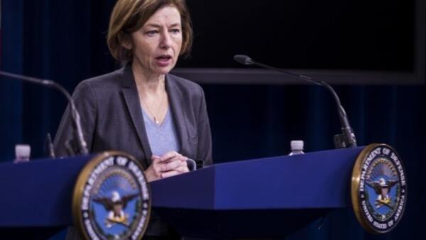 La ministre française de la Défense lors d'une conférence de presse au Pentagone, le 27 janvier 2020.