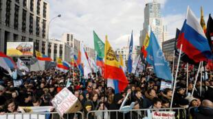 Митинг за свободу рунета на проспекте Сахарова в Москве