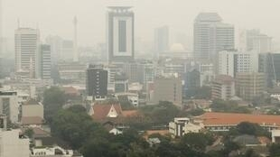 Powerless: Jakarta has been plunged into the dark by a series of power station failures.
