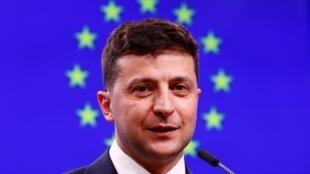 Президент Украины Владимир Зеленский в Брюсселе, 5 июня 2019