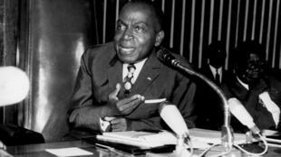 Le premier président de Côte d'Ivoire Félix Houphouët-Boigny en 1960.
