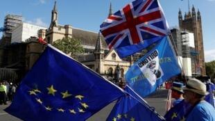 Ảnh minh họa: Biểu tình chống Brexit trước trụ sở Hạ Viện Anh, Luân Đôn, ngày 25/09/2019