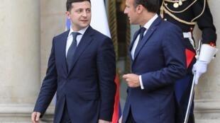 Владимир Зеленский и Эмманюэль Макрон, Париж, 17 июня 2019 г.
