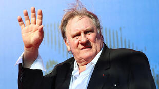"Gerard Depardieu waves as he arrives during a red carpet event for the movie ""Novecento- Atto Primo"" at the 74th Venice Film Festival in Venice, Italy, Italy September 5, 2017."